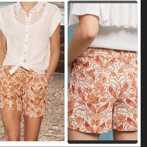 NWT Anthropologie Jolene linen shorts